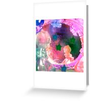 Little Crystal Girl Not of This World Greeting Card