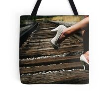 On the Wrong Side of the Tracks Tote Bag