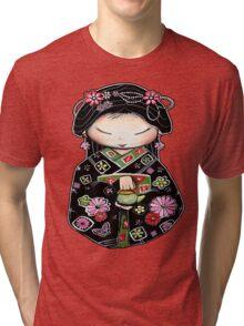 Little Green Teapot for colour  Tri-blend T-Shirt