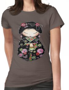 Little Green Teapot for colour  Womens Fitted T-Shirt