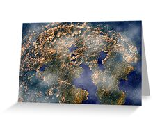 Abstract world Greeting Card
