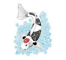 Fish koi Tancho Photographic Print