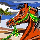 Arabian Horse, digital Paint By Number style by WildestArt