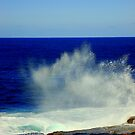Ocean Spray & Blue Sky on a winter's day  by Samantha  Goode