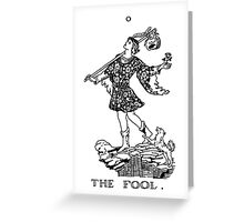 The Fool Tarot Card Greeting Card