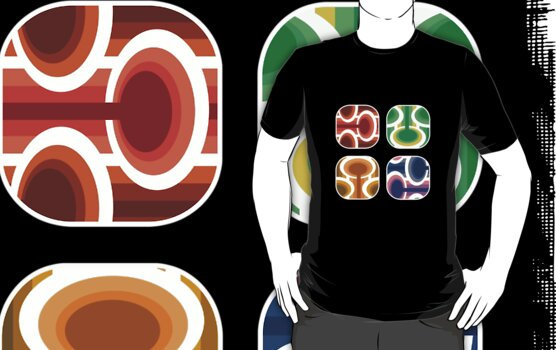 Retro elements T by boudidesign