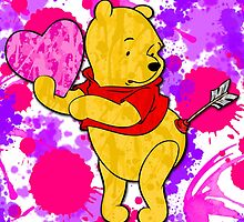 Pooh Bear Cupid Valentine by Lindsey Reese