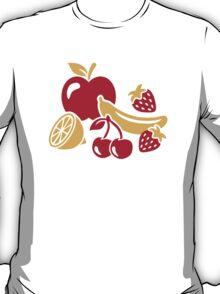Fruits apple banana cherries T-Shirt