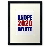 Knope Wyatt 2020 - Parks and Recreation Framed Print