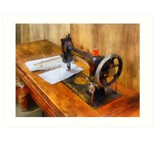 Sewing Machine With Orange Thread Art Print