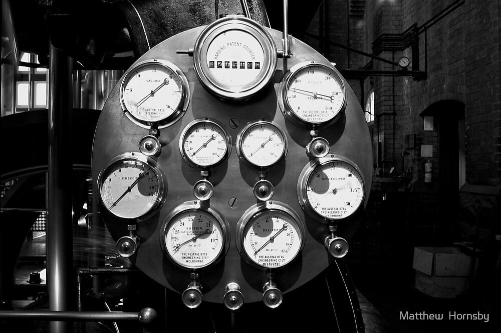 Steam gauges by Matthew  Hornsby