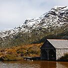 Cradle Mountain Boatshed by Rhana Griffin