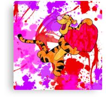 Valentine Tigger Canvas Print