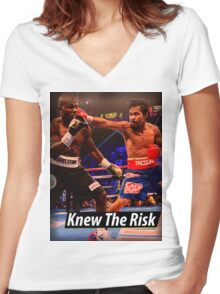 Knew the risk.... #1 Women's Fitted V-Neck T-Shirt