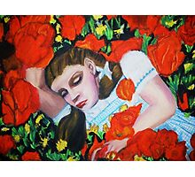 ASLEEP IN THE POPPIES , WIZARD OF OZ Photographic Print
