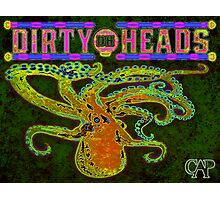 Dirty Heads Octopus Psychedelic Poster #3 by CAP - Trippy Band Tribute Design Photographic Print