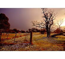 Golden Chill - Hill End - The HDR Experience Photographic Print