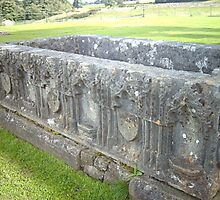 Tomb at Egglestone Abbey by hilarydougill