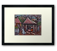 The village well Framed Print