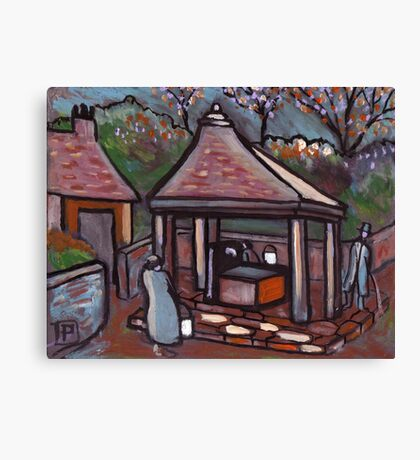 The village well Canvas Print