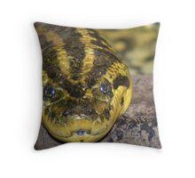 Green anaconda Throw Pillow