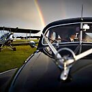 A Wedding Moment - A Plane a Car and a Rainbow by Hien Nguyen