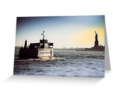 Liberty Island Ferry Greeting Card