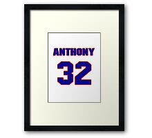 National baseball player Anthony Telford jersey 32 Framed Print