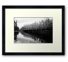 Bridge at Brewington Swamp, Manning SC Framed Print