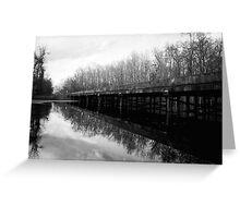 Bridge at Brewington Swamp, Manning SC Greeting Card