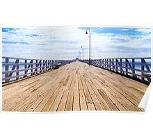 Pier in the Summer Sun Poster
