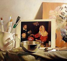 História da Arte II - Velasquez - oil on canvas - 80 x 120 - 2007 by Eduardo  Fiel