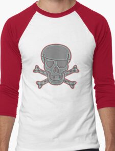 Pirate Squeezebones Weathered Blue/Red Men's Baseball ¾ T-Shirt