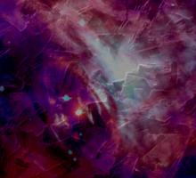 Purple Space Sticker