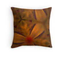 Organic orange flower/designer art Throw Pillow