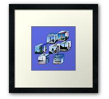 Lighthouse Cubes Framed Print