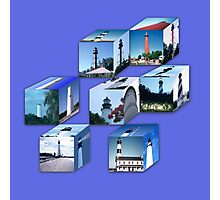 Lighthouse Cubes Photographic Print