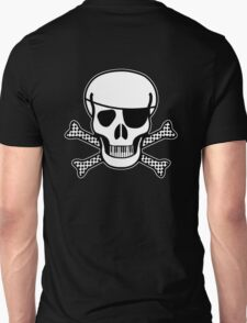 Pirate Squeezebones Black and White for Dark Colors T-Shirt