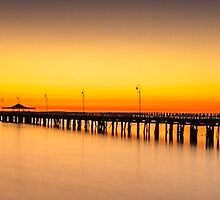 Shorncliffe Pier Silhouette by Silken Photography