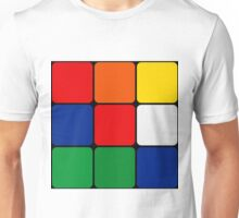 Multicolored Cube Design Unisex T-Shirt