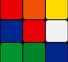 Multicolored Cube Design by SometimesSilent
