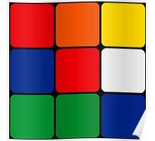 Multicolored Cube Design Poster