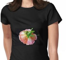 Orange Wildfire - Raindrops on Rose in Reflection Frame Womens Fitted T-Shirt