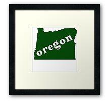 Great State of Oregon Framed Print