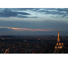 Paris at Dusk Photographic Print