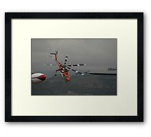 Skycrane Take-off @ Albion Park Airshow 2009 Framed Print