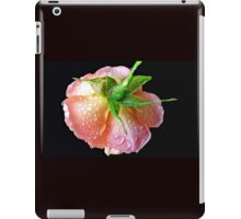 Orange Wildfire - Raindrops on Rose in Reflection Frame iPad Case/Skin