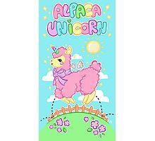 Alpaca Unicorn! Photographic Print
