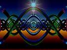 M3D: Helical Neon Sunrise  (G1013) by barrowda