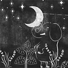 Elephant and Moon by erdavid